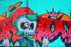 Ετικέττα του Μόντρεαλ τέχνης οδών Στοκ Εικόνα