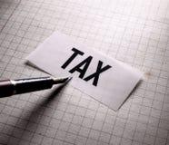 Ετικέττα του φορολογικού Word στοκ φωτογραφία με δικαίωμα ελεύθερης χρήσης