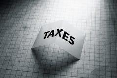 Ετικέττα του φορολογικού Word στοκ φωτογραφία