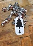 Ετικέττα δώρων Χριστουγέννων Hanmade Στοκ εικόνες με δικαίωμα ελεύθερης χρήσης