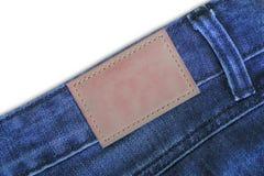 ετικέττες δέρματος τζιν τζιν Στοκ φωτογραφία με δικαίωμα ελεύθερης χρήσης