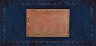ετικέττες δέρματος τζιν τζιν Στοκ εικόνα με δικαίωμα ελεύθερης χρήσης