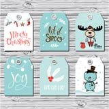 Ετικέττες δώρων Χριστουγέννων Στοκ εικόνες με δικαίωμα ελεύθερης χρήσης