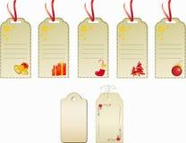 Ετικέττες δώρων Χριστουγέννων Στοκ εικόνα με δικαίωμα ελεύθερης χρήσης