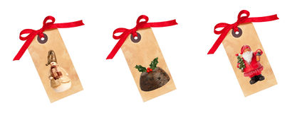 ετικέττες δώρων Χριστου&ga Στοκ Εικόνα