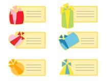 ετικέττες δώρων Στοκ φωτογραφίες με δικαίωμα ελεύθερης χρήσης