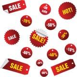 ετικέττες πωλήσεων Στοκ Εικόνες
