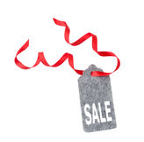ετικέττες πώλησης μόδας εξαρτημάτων Ετικέτα δώρων, που απομονώνεται στο άσπρο υπόβαθρο Στοκ Φωτογραφία
