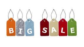 ετικέττες πώλησης μόδας εξαρτημάτων Στοκ Εικόνα