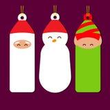 Ετικέττες Χριστουγέννων Στοκ Εικόνες