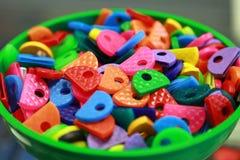 Ετικέττες χρωματισμένων κλειδιών Στοκ φωτογραφίες με δικαίωμα ελεύθερης χρήσης