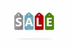 Ετικέττες δώρων που απομονώνονται στο άσπρο υπόβαθρο Ετικέτες πώλησης Στοκ Εικόνες