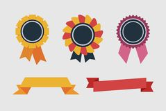 ετικετών κορδέλλες που τίθενται αναδρομικές Στοκ φωτογραφίες με δικαίωμα ελεύθερης χρήσης