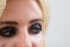 Ετοιμασμένα μάτια της γυναίκας, καλλυντικά Στοκ εικόνες με δικαίωμα ελεύθερης χρήσης