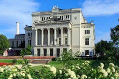 λετονική εθνική όπερα Ρήγα Στοκ Εικόνες