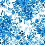 Ευγενές μπλε ditsy σχέδιο λουλουδιών Στοκ εικόνα με δικαίωμα ελεύθερης χρήσης