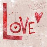 Ευγενές ρομαντικό άνευ ραφής σχέδιο με τις λέξεις αγάπης, μεγάλη καρδιά Το άνευ ραφής σχέδιο μπορεί να χρησιμοποιηθεί για τις ταπ Στοκ Εικόνες