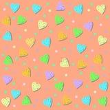 Ευγενές υπόβαθρο καρδιών Στοκ φωτογραφία με δικαίωμα ελεύθερης χρήσης
