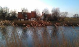 Ευγενής ολλανδική άποψη ποταμών Στοκ εικόνα με δικαίωμα ελεύθερης χρήσης