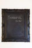 Ευγνώμων για τον πίνακα κιμωλίας Στοκ Εικόνες