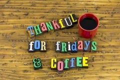 Ευγνώμων χρόνος καφέ Παρασκευών στοκ εικόνα με δικαίωμα ελεύθερης χρήσης