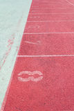 Ευθεία τρέχοντας διαδρομή Στοκ εικόνα με δικαίωμα ελεύθερης χρήσης