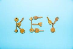 Ευθυγραμμισμένα κλειδί κλειδιά λέξης Στοκ Φωτογραφίες