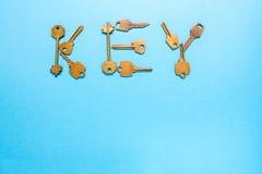 Ευθυγραμμισμένα κλειδί κλειδιά λέξης Στοκ Εικόνες