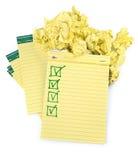 Ευθυγραμμισμένα σημειωματάρια εγγράφου με τον ολοκληρωμένο πίνακα ελέγχου Στοκ φωτογραφία με δικαίωμα ελεύθερης χρήσης