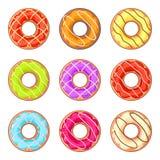 Ευθυγραμμισμένος donuts Στοκ εικόνα με δικαίωμα ελεύθερης χρήσης