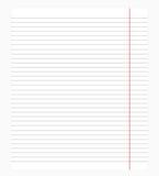 ευθυγραμμισμένο ανασκόπηση κουρελιασμένο λευκό εγγράφου σελίδων σημειωματάριων Στοκ Εικόνα