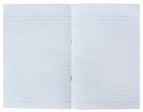 ευθυγραμμισμένο ανασκόπηση κουρελιασμένο λευκό εγγράφου σελίδων σημειωματάριων Στοκ Εικόνες