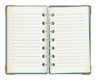 ευθυγραμμισμένο διπλάσιο σημειωματάριο που πλαισιώνεται Στοκ φωτογραφία με δικαίωμα ελεύθερης χρήσης