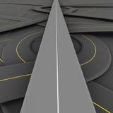 Ευθύς δρόμος διανυσματική απεικόνιση