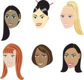 Ευθύ Hairstyles Στοκ Φωτογραφία