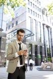 λευκές νεολαίες πορτρέτου ανασκόπησης απομονωμένες επιχειρηματίας Στοκ Φωτογραφίες