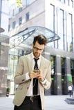 λευκές νεολαίες πορτρέτου ανασκόπησης απομονωμένες επιχειρηματίας Στοκ Εικόνα