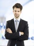 λευκές νεολαίες πορτρέτου ανασκόπησης απομονωμένες επιχειρηματίας Στοκ εικόνες με δικαίωμα ελεύθερης χρήσης