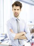 λευκές νεολαίες πορτρέτου ανασκόπησης απομονωμένες επιχειρηματίας Στοκ φωτογραφία με δικαίωμα ελεύθερης χρήσης
