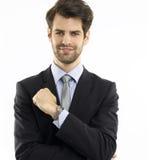 λευκές νεολαίες πορτρέτου ανασκόπησης απομονωμένες επιχειρηματίας Στοκ εικόνα με δικαίωμα ελεύθερης χρήσης