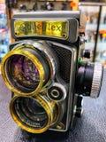 Ευκίνητα κάμερα Rollei, το 1920, 75, Jahre Rollel, 1995 από τις εκλεκτής ποιότητας, παλαιών ταινιών κάμερες της Γερμανίας, και φα στοκ εικόνες με δικαίωμα ελεύθερης χρήσης