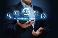 Ευκίνητη έννοια επιχειρησιακού Διαδικτύου Techology ανάπτυξης λογισμικού στοκ εικόνες