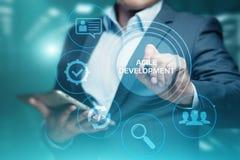 Ευκίνητη έννοια επιχειρησιακού Διαδικτύου Techology ανάπτυξης λογισμικού στοκ φωτογραφία