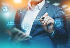 Ευκίνητη έννοια επιχειρησιακού Διαδικτύου Techology ανάπτυξης λογισμικού στοκ φωτογραφίες
