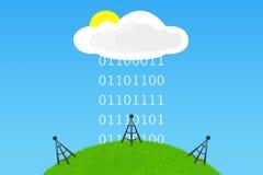 Ευκαιρίες υπολογισμού σύννεφων Στοκ φωτογραφία με δικαίωμα ελεύθερης χρήσης