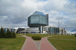 λευκορωσική εθνική δημοκρατία του Μινσκ βιβλιοθηκών Στοκ εικόνα με δικαίωμα ελεύθερης χρήσης