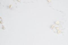 λευκό δαντελλών ανασκόπ&eta Στοκ Εικόνα