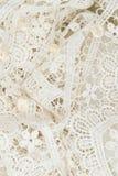 λευκό δαντελλών ανασκόπ&eta Στοκ φωτογραφία με δικαίωμα ελεύθερης χρήσης