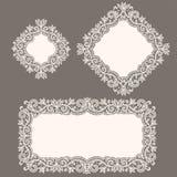 λευκό δαντελλών doily Στοκ Εικόνες
