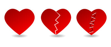 λευκό απεικόνισης εικονιδίων καρδιών ανασκόπησης Στοκ εικόνα με δικαίωμα ελεύθερης χρήσης